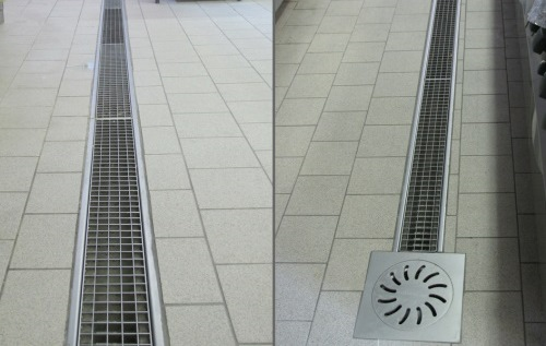 channel drain, floor drain with grate for kitchen, supermarket and restaurant RAY122