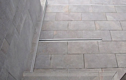 Drain channel, channel with slit, floor drain and catch basin, stainless steel for public places RAY17, RAY12