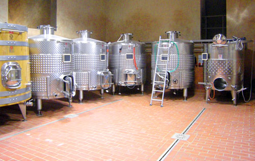 Floor drain, catch basin and channel drain in stainless steel for wineries RAY