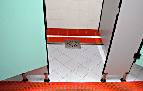 Channel drain, floor drain, catch basin, stainless steel drainage system for bathrooms and locker rooms