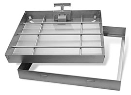Floor drain inspection cover channel drain grate in stainless steel RAY INOX drainage system