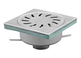 Floor drain inspection cover grate stainless steel drainage system
