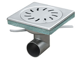 Floor drain in stainless steel waste water drainage system