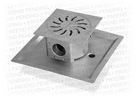 Floor drain for waste water drainage stainless steel drainage system